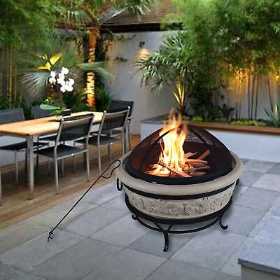68 cm Feuerstelle für Brennholz für den Außenbereich rund Peaktop komplexes