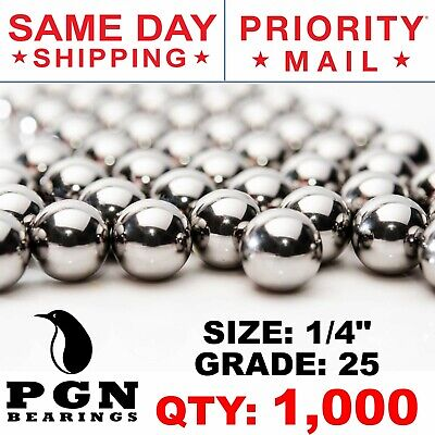 1000 Qty 14 Inch G25 Precision Chrome Steel Bearing Balls Chromium Aisi 52100