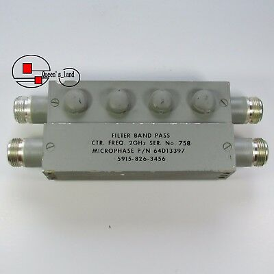 1 Used Microphase 2Ghz Type N Rf Coaxial Band Pass Filter