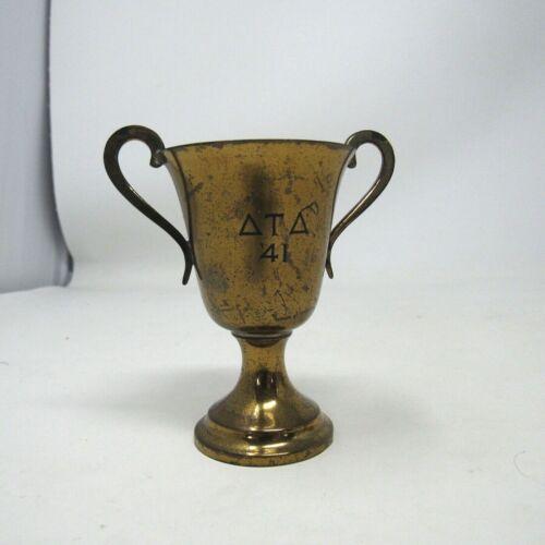 Vintage Loving Cup Delta Tau Delta Brass 1941 Fraternity School