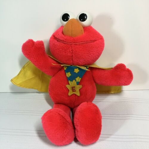 "Vintage Tyco Plush ""Super Muppet Elmo"" with Cape 1987"