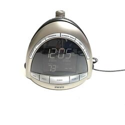 Homedics SoundSpa Premier Alarm AM/FM Clock Radio Nature Sound Temp Projection