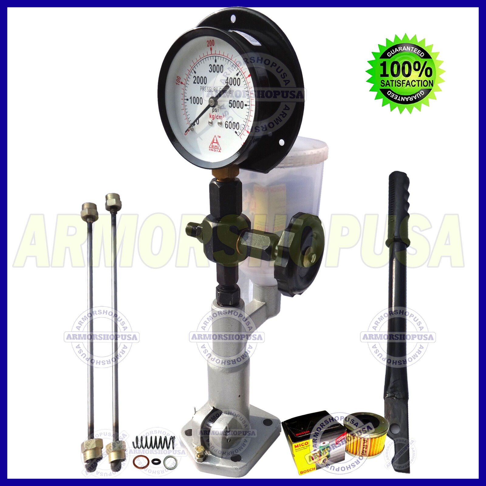 Fuel Injector Pop Tester Diesel Test Wire Diagrams Tach Wiring Http Wwwbenzworldorg Forums W123ecedcdtd Nozzle Pressure Dual Scale Bar