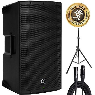 "Mackie Thump15A 1300W 15"" DJ PA Active/Powered Loudspeaker w/ Speaker Stand, XLR"