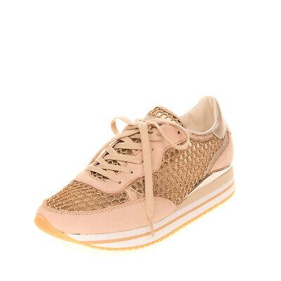 RRP €145 CRIME LONDON Sneakers Mismatch Size L 41 R 40 Honeycomb Mesh Glitter