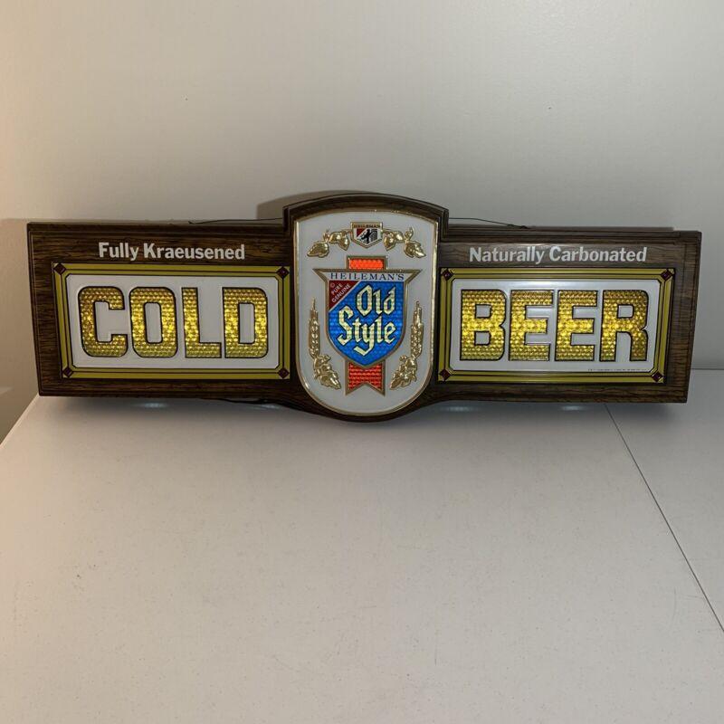 VTG Old Style Cold Beer Bubbler Motion Lighted Bar Sign Lights Change Colors