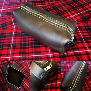 Leather shave bag /toiletries bag