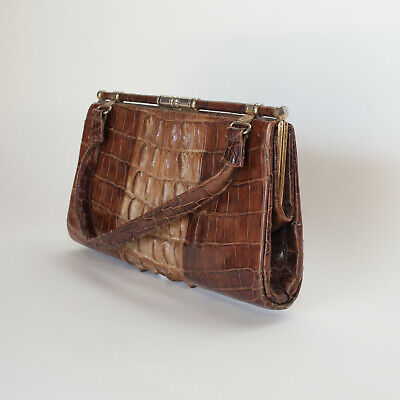 1930s Handbags and Purses Fashion Alligator Vintage Handbag brown from the 1930s England. $99.00 AT vintagedancer.com