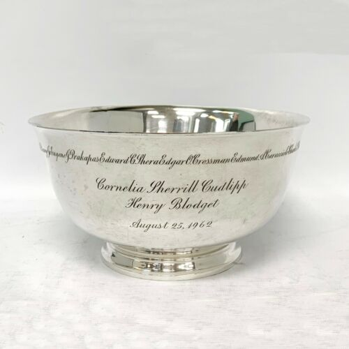 """Tiffany & Co. Makers Sterling Silver Revere Style 23618 Footed 8.5"""" Large Bowl"""