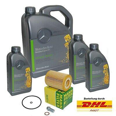 MANN Ölfilter mit 8L Original MB 229.51 5W30 Motoröl für C-E-R-S-Klasse CLS usw