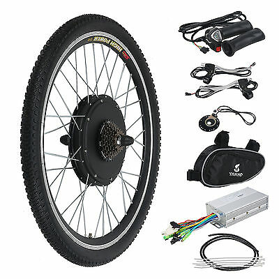 "Electric Bicycle Kit E Bike Motor Conversion 26"" Rear Wheel 48V 1000W"