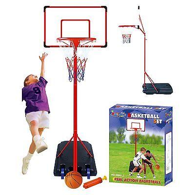 Free Standing Basketball With Adjustable Stand 261cm Set Hoop Net Backboard Ball