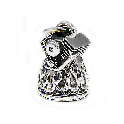 FLAMES V TWIN BELL 38GM 925 STERLING SILVER MEN