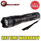 STUN GUN ALL Metal POLICE  200MV Rechargeable + LED Flashlight Tactical - Black