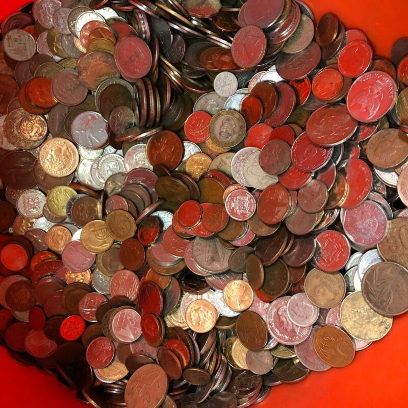 mixed bulk lots by the pound FOREIGN COINS Many Countries! 5 lbs of WORLD