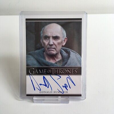 Game of Thrones Donald Sumpter Maester Luwin Autograph Trading Card Season 2