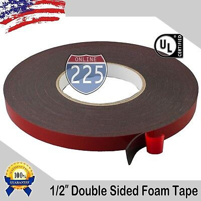 12 Wide Double Sided Acrylic Foam High Strength Adhesive Tape 60 Foot Roll Usa