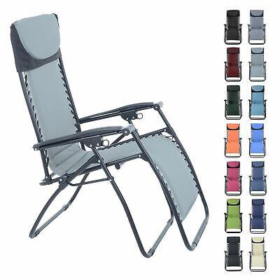 Azuma Relaxer Chair Zero Gravity Padded Reclining Garden Multi Position Lounger