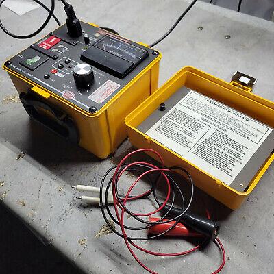 Megger Biddle 230425 Portable 0-4k Ac5k Ac Dc Hipot Tester Analogue Megohmmeter