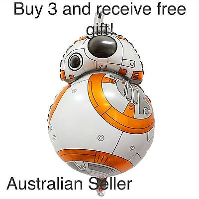 Roboter Party Supplies (STAR WARS BALLOON 80cm BB8 THE FORCE AWAKENS MOVIE PARTY SUPPLIES ROBOT TOY R2D2)