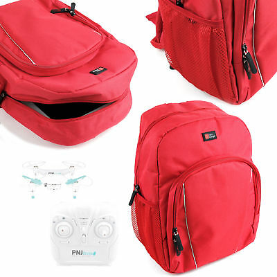 Bright Red Backpack With Rain Cover for PNJ LS-Pico / Smart-Fly / DR-50 Drones