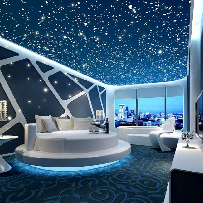 Home Decoration - 400Pcs Wall Stickers Glow In The Dark Star Round Dot Luminous Home Ceiling Décor