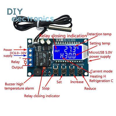Digital Thermostat Precision Digital Display Temperature Controller Module B2ae