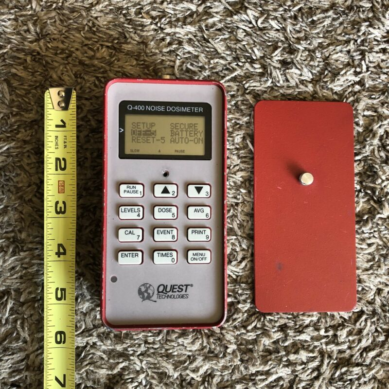 Quest Technologies Q-400 Noise Dosimeter Tested Turns On