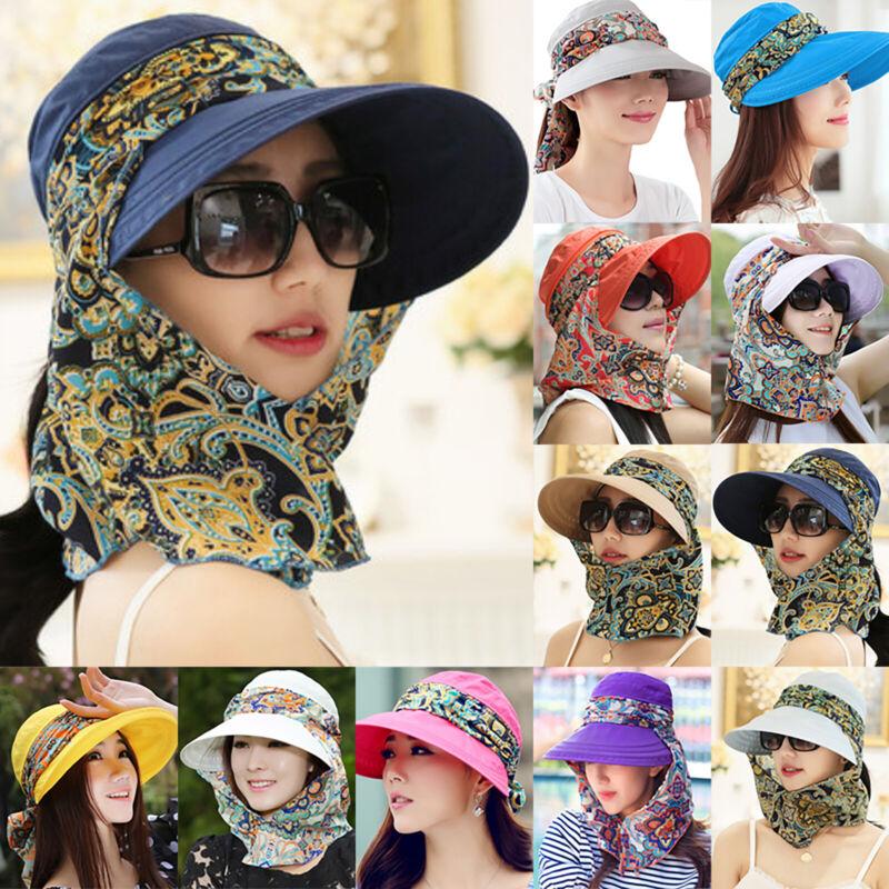 Damen Hut Sonnenschutz Breite Krempe Hut Mütze Sommer Strand Outdoor Sonnenhut