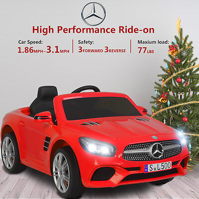Mercedes SL500 12V Electric Kids Ride On Toy Cars 6 Speeds w/ Remote Control Red