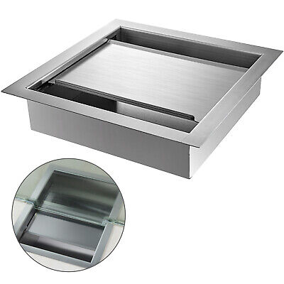 Stainless Steel Countertop Deal Tray With Sliding Lid 14 L X 14 W