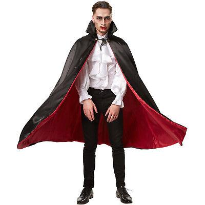 Dracula Vampir Umhang Teufel Damen Herren Halloween Fasching Kostüm Cape (Dracula Kostüm)