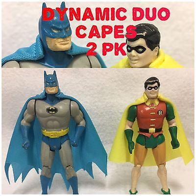 DC Kenner Super Powers Batman & Robin Dynamic Duo Replica Cape 2 Pk (Capes - Batman And Robin Capes