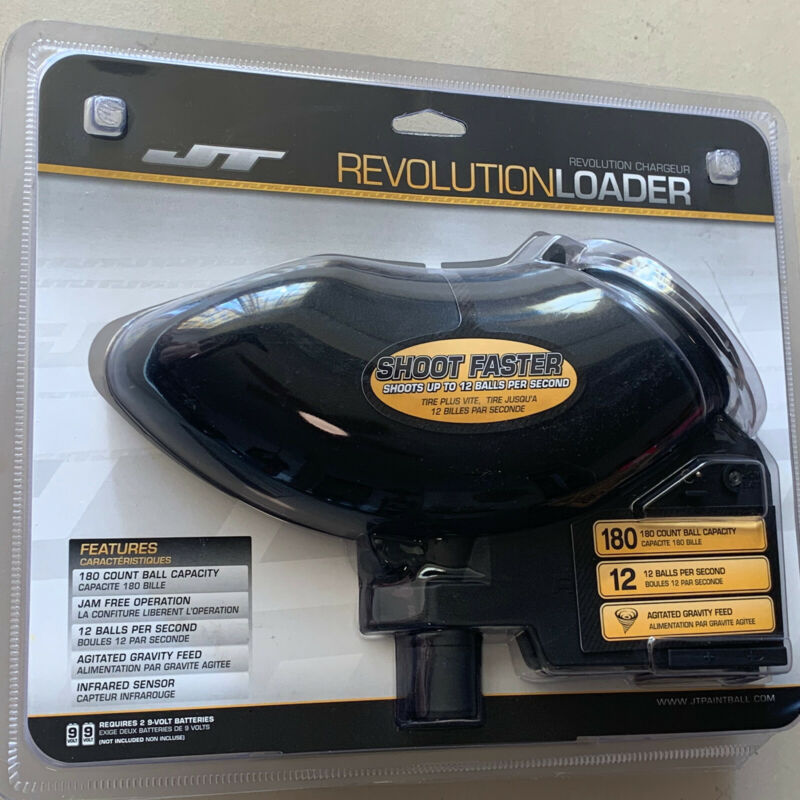 JT Revolution Classic Paintball Loader - Black