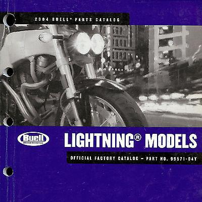 2004 BUELL LIGHTNING XB9S & XB12S MOTORCYCLE PARTS CATALOG MANUAL -BUELL