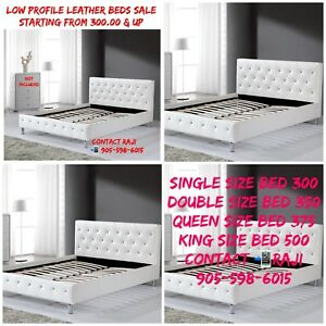 LOW PROFILE LEATHER BEDS SALE