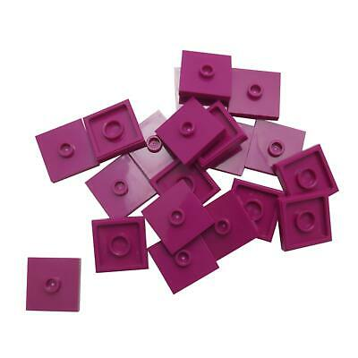 20 NEW LEGO Plate, Modified 2 x 2, Groove and 1 Stud in Center (Jumper) Magenta