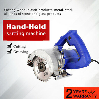 New Hand-Held Wood Ceramic Tile Glass Steel Cutter Saws Cutting Grooving Machine ()