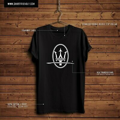 Maserati LOGO New T - Mens Gildan 5000 - 5.3 oz 100% cotton T-Shirt. NEW!!