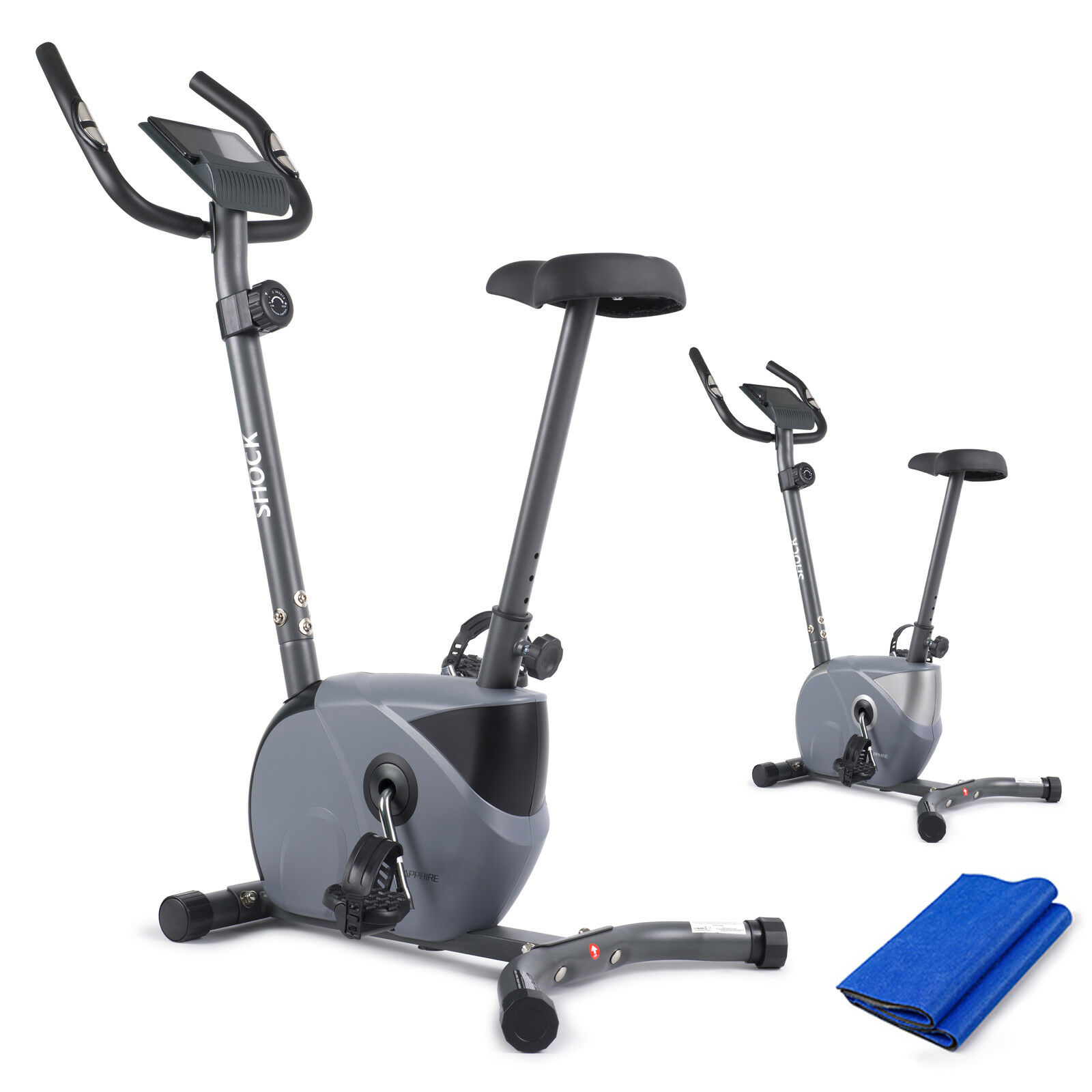 Heimtrainer Fitness Fahrrad Hometrainer Ergometer Trimmrad Bike Trimmrad 130 kg✔️GRATIS✔️ bis 130 kg✔️Pulsmessung✔️LCD Display✔️NEU