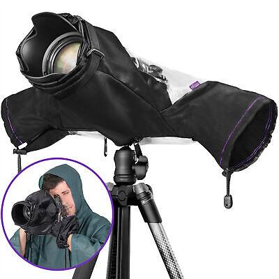 Camera Rain Cover for Canon Nikon DSLR Rain Sleeve Protection by Altura Photo®