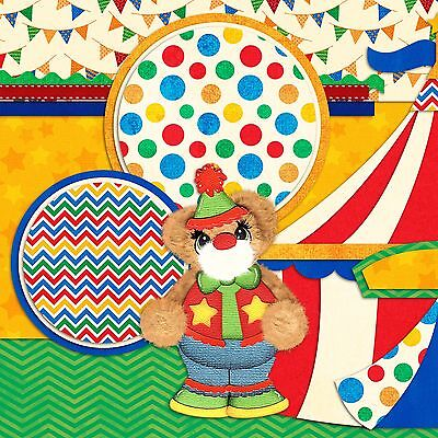 TEAR BEAR CIRCUS - 2 Premade Scrapbook Pages - EZ Layout 879