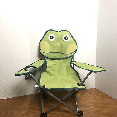 Green Frog Folding Kids Camper Chair- Outdoor Or Indoor Seating For Kids (Green Frog Outdoor Furniture)