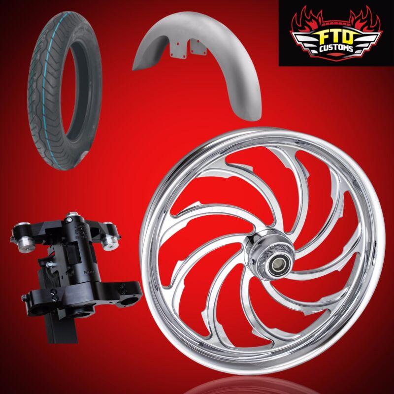 "Harley 30 Inch Front End Big Wheel Kit, Wheel, Tire, Neck, Fender, "" Viper"""