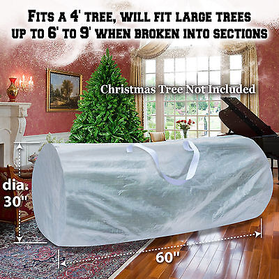 White Heavy Duty Large Artificial Christmas Tree Storage Bag Clean Up Holiday