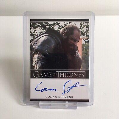 Game of Thrones Conan Stevens Gregor Clegane Autograph Trading Card Season 2