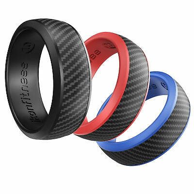 IKonfittness 3 Colors Silicone Ring Rubber Wedding Band Flexible Gifts Men Women](Rubber Man)