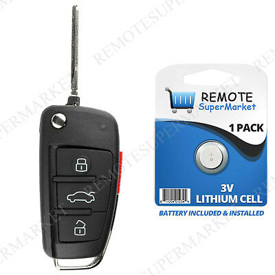 Replacement for Audi 2006 2010 A3 A4 A6 Quattro Remote Car Key Fob Keyless Entry