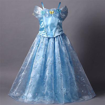 Neu Mädchen Kostüm Kinder Cosplay Partykleid PrinzessinKleid Cinderella Party