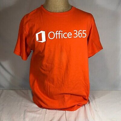 Microsoft Office 365 Orange T Shirt Large Cotton Computer 2011 Windows Outlook for sale  Shipping to India